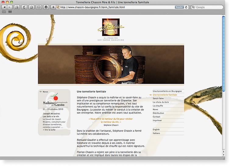 Tonnellerie Chassin Père & Fils | Webdesign