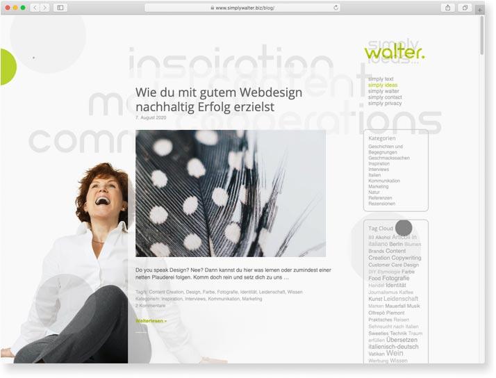 simply walter. simply ideas ...: Webdesign